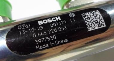 Рампа топливная Cummins 6ISBe 6ISDe QSB6.7  Bosch 0445226042, 3977530, 3978448, 4937282, 0 445 226 042